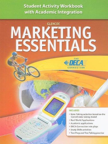 9780078780387: Marketing Essentials: Student Activity Workbook With Academic Integration