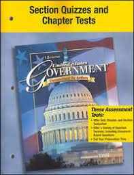 9780078781308: Section Quizzes and Chapter Tests (United States Government, Democracy in Action)