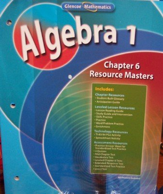 9780078782886: Algebra 1: Chapter 6 Resource Masters