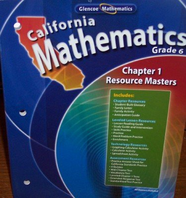 9780078782961: Chapter 1 Resource Masters Grade 6 (California Mathematics, Math Connects)