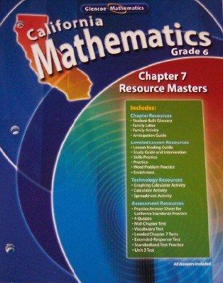9780078783029: California Mathematics Grade 6 resource masters Chapter 7 (California Mathematics)