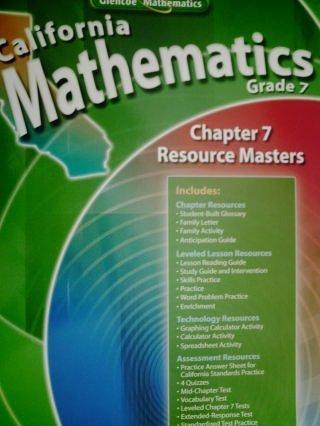 9780078783142: California Mathematics Grade 7 Chapter 7 Resource Masters (California Mathematics Grade 7)