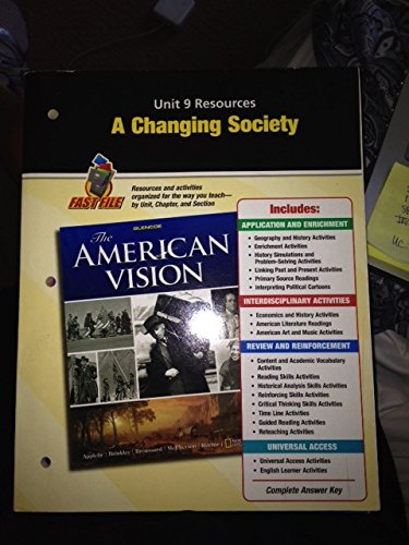 9780078784286: A Changing Society, Unit 9 Resources, Fast File (The American Vision)