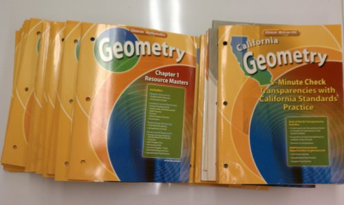 9780078784811: Glencoe Geometry Complete Teachers Chapter Resources & More - California Edition (Glencoe Geometry)