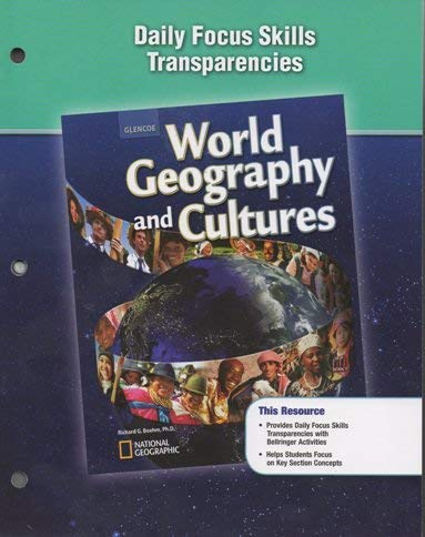 9780078785672: Glencoe World Geogrpahy and Cultures Daily Focus Skills Transparencies
