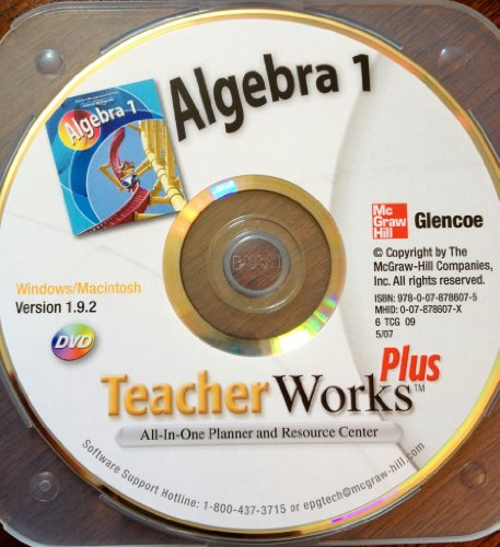 9780078786075: Glencoe Algebra 1 Teacher Works Plus DVD, 2007