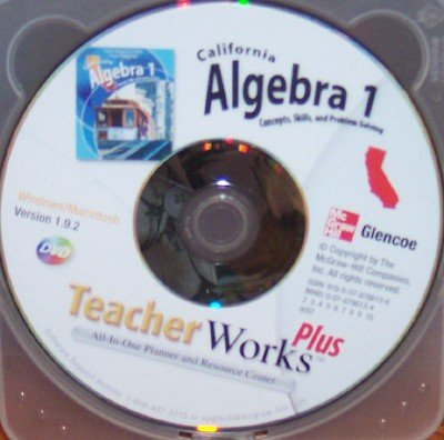 9780078786136: California Algebra 1 TeacherWorks Plus; Concepts, Skills, and Problem Solving (All-In-One Planner and Resource Center)