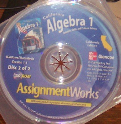 9780078786143: Assignment Works (Califoria Algebra 1: Concepts, Skills, and Problem Solving)