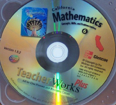 9780078786440: California Mathematics Teacher Works Plus, Grade 6 DVD (Concept, Skills, and Problem Solving {DVD})