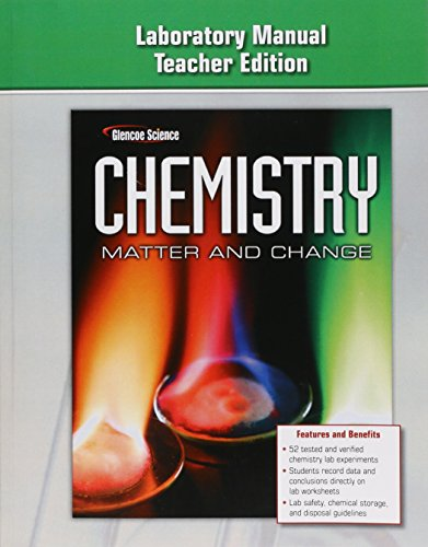 9780078787485: Chemistry: Matter & Change-Laboratory Manual Teacher's Edition