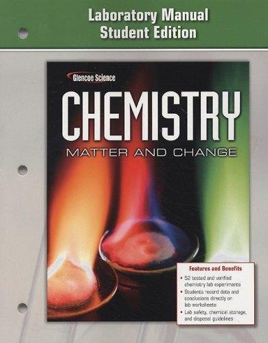 9780078787492: Chemistry: Matter & Change, Laboratory Manual, Student Edition (GLENCOE CHEMISTRY)
