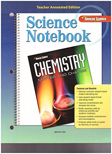 9780078787546: Science Notebook, Glencoe Science (Chemistry, Matter and Change)