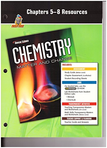 9780078787614: Chapters 5-8 Resources (Fast File, Glencoe Science, Chemistry, Matter and Change)