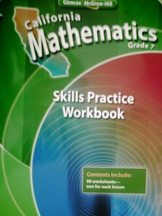 9780078788840: California Mathematics Grade 7 Skills Practice Workbook (California Mathematics Grade 7)