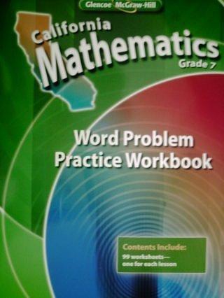9780078788888: California Mathematics Grade 7 Word Problem Practice Workbook (California Mathematics Grade 7)
