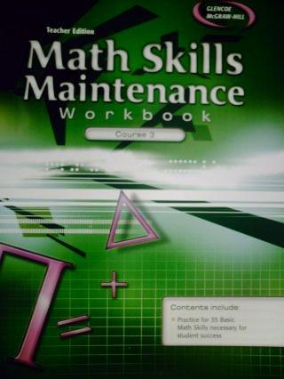 9780078788963: TEACHER EDITION Math Skills Maintenance Workbook Course 3