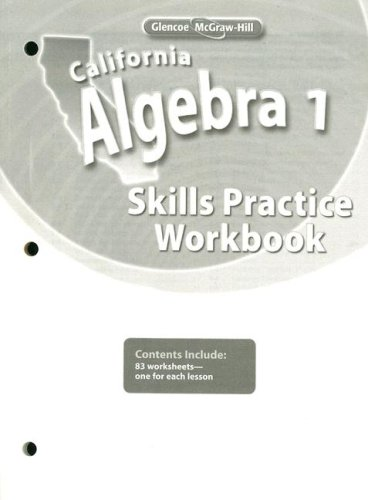 9780078790492: California Algebra 1, Skills Practice Workbook