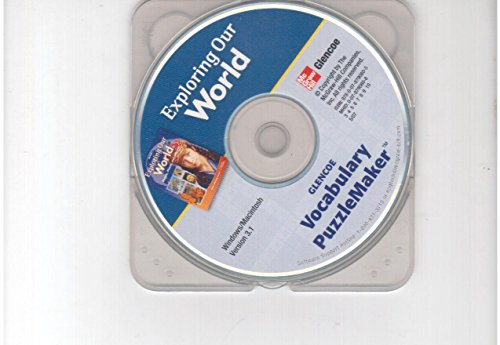 9780078790805: Vocabulary Puzzlemaker CD-ROM (Exploring Our World People, Places and Cultures)