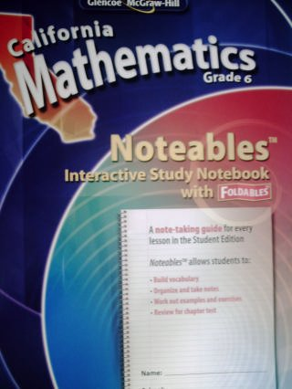9780078792632: California Mathematics Grade 6 Noteables (California Mathematics Grade 6)