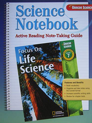 9780078794384: Focus on Life Science, California Glencoe Grade 7 Active Reading Note-Taking Guide