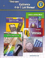 9780078794421: California 4-in-1 Lab Manual (Grade 8)
