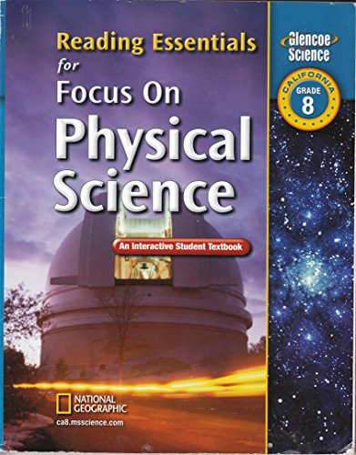 9780078794438: Focus on Physical Science, California, Grade 8 Reading Essentials