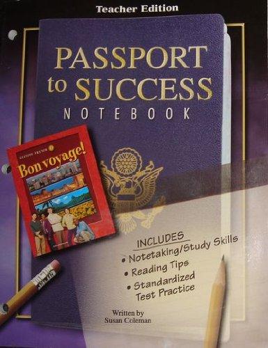 9780078797965: Passport to Success Notebook Teacher Edition