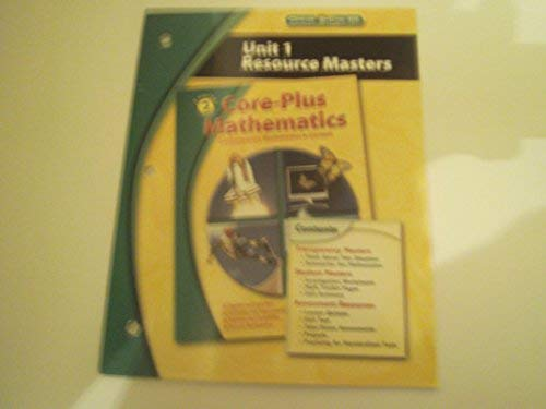 9780078799716: 2nd Edition Core-Plus Mathematics Course 2 -Unit 1 Resource Masters