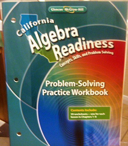 9780078805233: Extension Activities Workbook (California Algebra Readiness, Concepts, Skills, and Problem Solving)