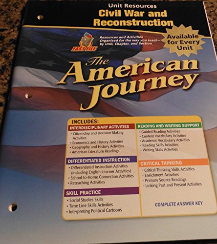 9780078806001: Glencoe The American Journey Unit Resources Civil War and Reconstruction. (Paperback)