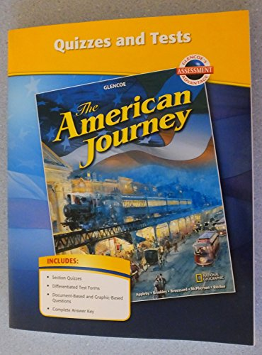 9780078806148: Glencoe The American Journey Quizzes and Tests. (Paperback)