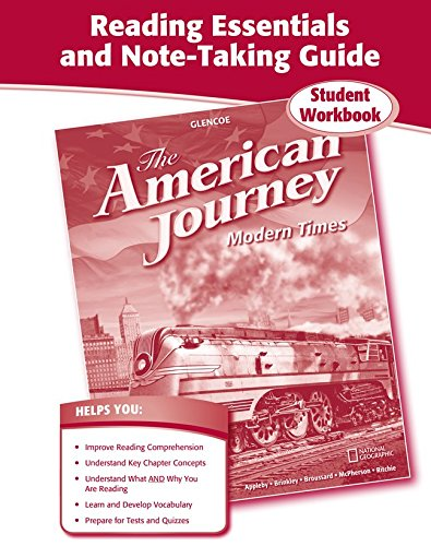 9780078806384: The American Journey, Modern Times, Reading Essentials and Note-Taking Guide
