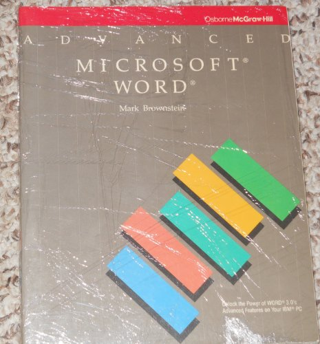 9780078810107: Advanced Microsoft Word