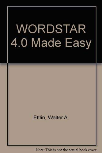 9780078810114: WordStar 4.0 made easy