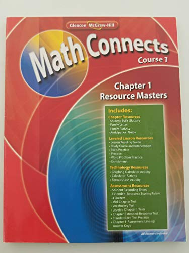 9780078810176: Math Connects Course 1 (Chapter 1-Resource Masters)