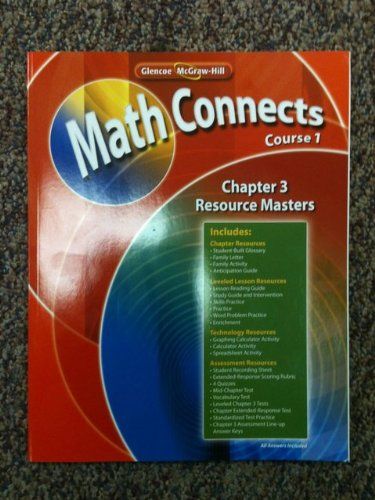 9780078810213: Glencoe McGraw-Hill Math Connects Course 1, Chapter 3 Resource Masters ISBN 9780078810213