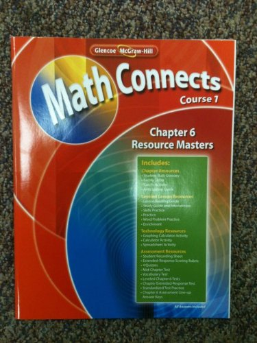 9780078810244: Glencoe McGraw-Hill Math Connects Course 1, Chapter 6 Resource Masters ISBN 9780078810244