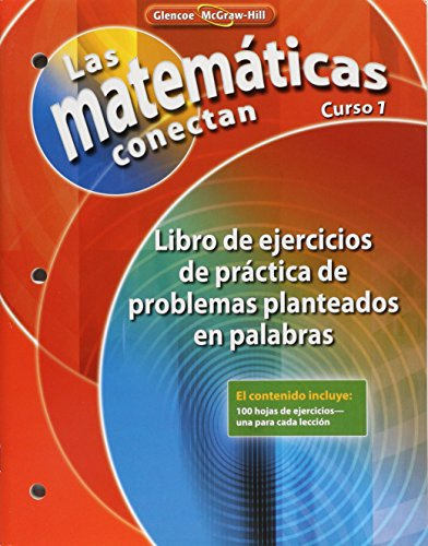 9780078810374: Math Connects: Concepts, Skills, and Problems Solving, Course 1, Spanish Word Problem Practice Workbook