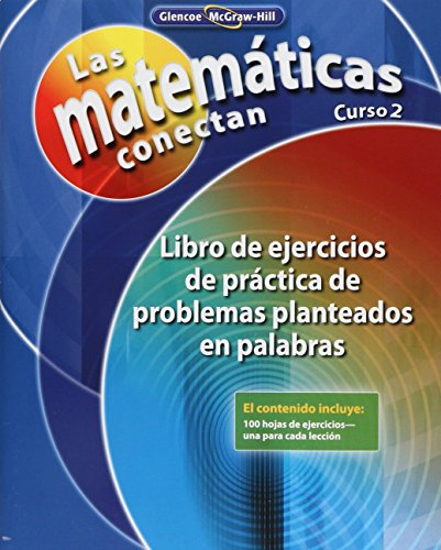 9780078810596: Math Connects: Concepts, Skills, and Problems Solving, Course 2, Spanish Word Problem Practice Workbook