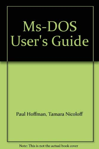9780078811319: Ms-DOS User's Guide