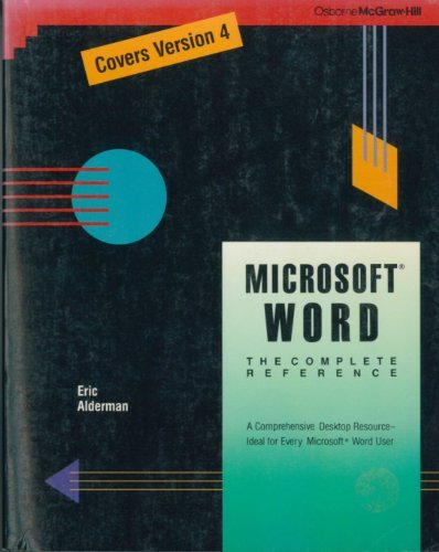 9780078813351: Microsoft Word: The Complete Reference