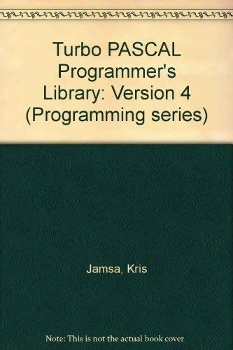 9780078813689: Turbo Pascal Programmer's Library (Programming series)