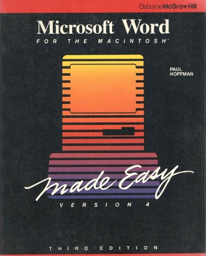 Microsoft Word Made Easy for the Macintosh (0078814782) by Hoffman, Paul