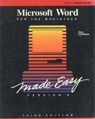 9780078814785: Microsoft Word Made Easy for the Macintosh