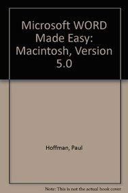 9780078814839: Microsoft Word Made Easy: Covers Release 5