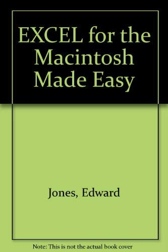 9780078815232: EXCEL for the Macintosh Made Easy