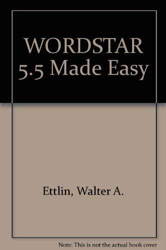9780078815539: Wordstar 5.5 Made Easy