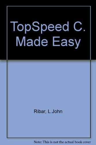 9780078815607: TopSpeed C. Made Easy