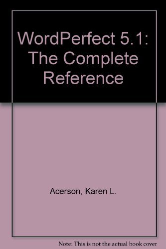 9780078816345: Wordperfect 5.1: The Complete Reference