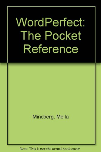 9780078816628: WordPerfect: The Pocket Reference